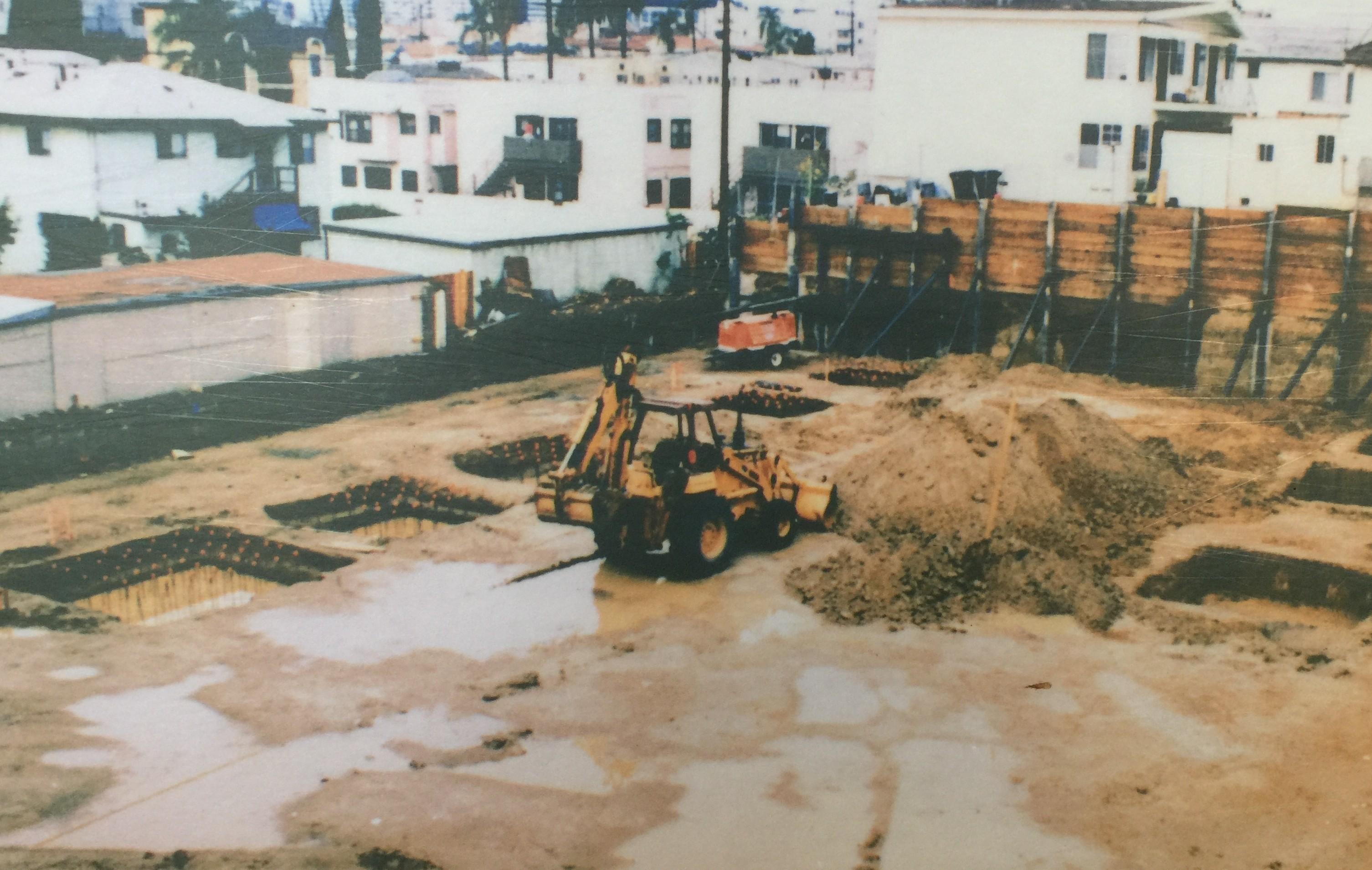 교육 선교관 건축 및 본당 증축 공사장